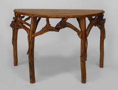 Rustic Adirondack table console table root