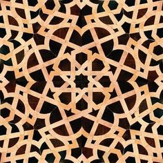 Moroccan Tile Design for Living Room and Terrace: Moroccan Tile Design Dark Brown, Black, And Cream Tiles Curve Pattern Islamic Patterns, Geometric Patterns, Geometric Art, Islamic Designs, Stencil Patterns, Tile Patterns, Textures Patterns, Moroccan Pattern, Moroccan Tiles