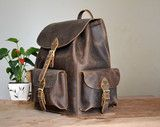 Full leather backpack, book bag, traveler bag, cool, M, L