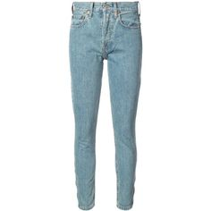 Re/Done skinny jeans ($295) ❤ liked on Polyvore featuring jeans, blue, re done jeans, cut skinny jeans, denim skinny jeans, blue skinny jeans and skinny leg jeans