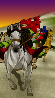 Persian messengers / soldiers delivered the king's new law to all the provinces in Persia.