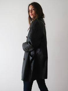 Boxy Leather Jacket