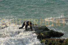 Waves Crashing All Around - Stock Photo