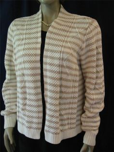 NWT BANANA REPUBLIC Stripe Cable Cardigan Sweater XL NEW Cotton