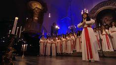 Lucia Church Procession and Choir Video Danish Christmas, Christmas Music, All Things Christmas, Christmas Holidays, Santa Lucia, Swedish Christmas Traditions, St Lucia Day, Scandinavian Holidays, Choir