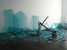 Installation view of Porto at Meessen De Clercq 2009 - Claudio Parmiggiani