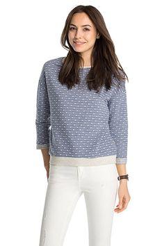 Esprit / Licht sweatshirt van een katoenmix