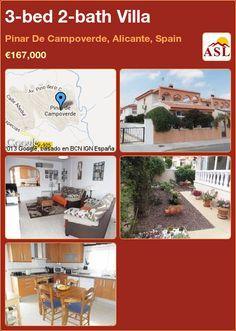 3-bed 2-bath Villa in Pinar De Campoverde, Alicante, Spain ►€167,000 #PropertyForSaleInSpain