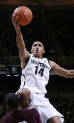 Michigan State freshman guard Gary Harris has been named the Big Ten men's basketball Freshman of the Week, the conference office announced on Monday, Nov. 19. In two games last week, Harris averaged 18.5 points in a pair of Spartan victories. Through three games, Harris leads MSU in scoring at 16.0 ppg. #spartans www.msuspartans.com