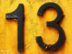 Lucky 13!!  Yellow is my favorite color and 13 was always my favorite number because every one else was afraid of it, so I'd always choose it for my game jerseys:)