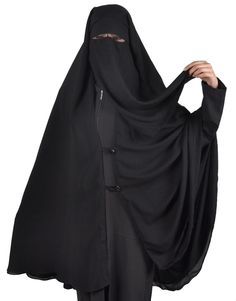 Extra long niqab-Khimar Hijab Burqa Islamic Face Cover Veil Burka Muslim, 385 #SaudiIslamicNiqabfaceveil