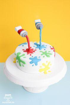 ganz schön bunt - Farbkleckstorte - anti-gravity-cake