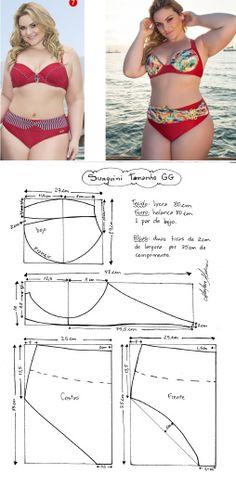 Bikini top and bottom pattern drafting Underwear Pattern, Lingerie Patterns, Bra Pattern, Clothing Patterns, Bikini Pattern, Cardigan Pattern, Sewing Bras, Sewing Lingerie, Sewing Clothes