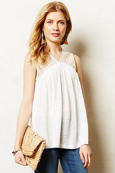 Frothed Eyelet Shell #anthropologie