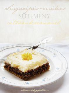 Hozzávalók: egy csipetnyi szeretet-Sárgarépás-mákos sütemény gyömbéres citromkrémmel