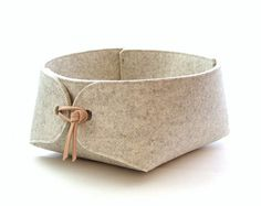 XX Large felt organizer with natural leather ties by SKANDINAVIOUS