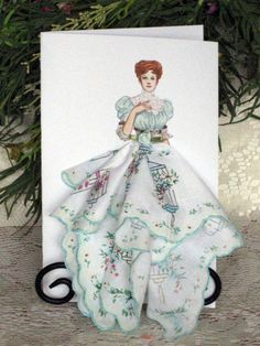 1905 After Dress Keepsake Hanky Card by onceuponahanky on Etsy