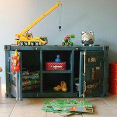 kinderkasten: containerkast speelgoedkast zwart