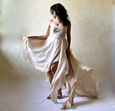 Boho wedding dress wedding gown Woodland dress Fairy by LoreTree