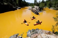 """""""EPA fuck-up - turns River of Souls into - toxic yellow soup"""" The chemical brew unleashed during an Environmental Protection Agency investigation is three times larger than previously stated, the agency said."""