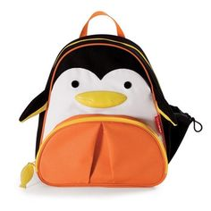 """Backpacks with personality and practicality, the Skip Hop Zoo Pack, a backpack for kids is absolutely adorable with its cute design and great features! Skip Hop backpacks are """"where fun meets function! Little Backpacks, Animal Backpacks, Cool Backpacks, Preschool Backpack, Toddler Backpack, Franck Fischer, Penguin Animals, Penguin Baby, Plush Animals"""