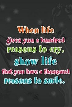 Here's to many more smiles than cries! :-)