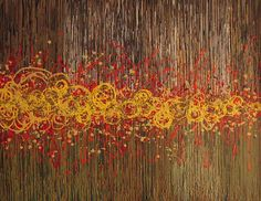 Abstract. Yellow Painting - Untitled by Kate Tesch
