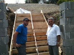 Coffrage d'escalier de béton