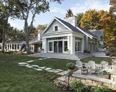 Adorable Traditional House Designs with Large Courtyard: Classic Style Patio Indian Hills Hampton Exterior View