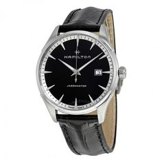 Hamilton Jazzmaster Black Dial Men's Leather Watch H32451731