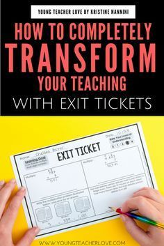 How Completely Transform Your Teaching with Exit Tickets - Young Teacher Love by Kristine Nannini - Tap the link to shop on our official online store! You can also join our affiliate and/or rewards programs for FREE! Teaching Strategies, Teaching Tips, Teaching Math, Maths, Elementary Teaching, Teaching History, Elementary Science, Science Classroom, School Classroom