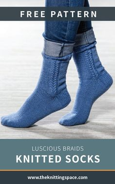 A simple pair of knitted socks with a charming twist perfect for gift giving! This pattern is an ideal project for intermediate to advanced knitters.| Discover over 3,000 free knitting patterns at theknittingspace.com  #springknittingprojects #springcrafts #freesockspattern #backtoschooloutfits  #knitpatternsfree  #knittinginspiration #DIY #giftideas