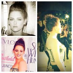 Kristen Stewart braided updo for SWATH premiere in Australia, hair by Adir Abergel.