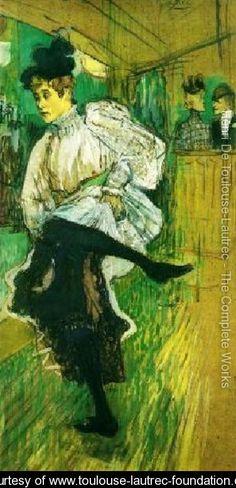 Jane Avril Dancing - Henri De Toulouse-Lautrec - www.toulouse-lautrec-foundation.org