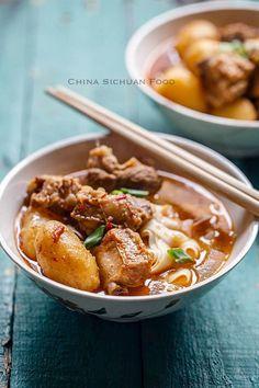braised rib and potato|chinasichuanfood.com
