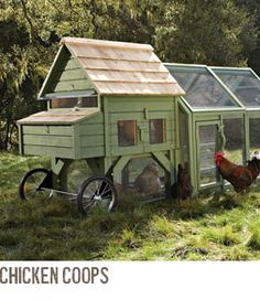 Williams-Sonoma does gardening, complete with a Chicken Tractor!  Let my new obsession begin...