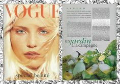 May 1994 / Vogue : Le Jardin Retrouvé in the countryside
