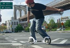 Skatecycle @ Sharper Image Great - A great alternative to a skateboard!