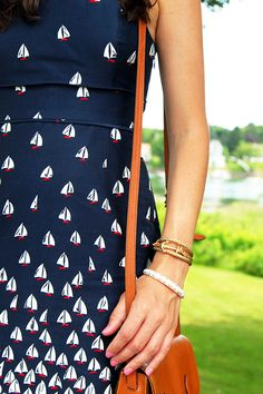 via Classy Girls Wear Pearls Zooey Deschanel, Looks Style, My Style, Summer Outfits, Cute Outfits, Style Classique, Classy Girl, Nautical Fashion, Hipster Fashion