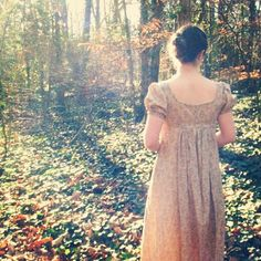 CUSTOM - Daydreams -  Cotton Regency Dress, Jane Austen, Reenactment Costume - Custom Made for You