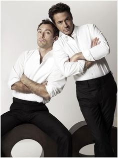 Jude Law and Robert Downey Jr. I love them in the Sherlock Holmes movies.