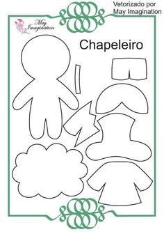 Mãe & Filha Artesanatos: Molde Personagens Alice no Pais das Maravilhas: