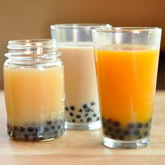 How to Make Boba & Bubble Tea at Home -1/4 cup dried boba tapioca pearls per serving (NOT quick-cooking boba) -1-2 tea bags per serving, any kind -1/2 cup water -1/2 cup sugar -Milk, almond milk, or sweetened condensed milk -Fruit juice or nectar (optional)