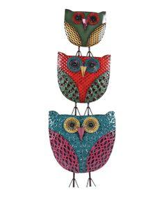 Owl Trio Wall Art