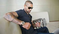 Shikhar Dhawan eyeing at the collection of watches - http://ift.tt/1ZZ3e4d