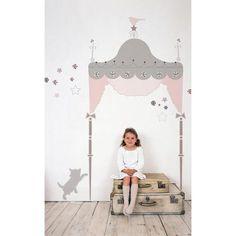 New Juliette Headboard Wall Decals Canopy Bed Stickers Girls Bedroom Decor | eBay