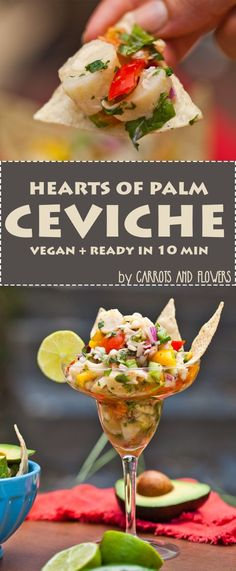 AMAZING Hearts of Palm Ceviche | Healthy Vegan Appetizer | Ready in only 10 Minutes