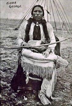 Pohd Lohk (aka Old Wolf, aka Kiowa George, aka George Poolaw), the husband of Keahtinekeah Poolaw and Tsomah Poolaw - Kiowa - 1892 Native American Warrior, Native American Pictures, Native American Artists, Native American History, Native American Indians, Rocky Mountains, Navajo, Colorado, American Indian Art