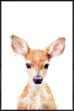 Little Deer en Affiche sous cadre standard par Amy Hamilton   JUNIQE