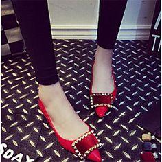 Chaussures Femme - Décontracté - Noir / Rouge / Gris - Talon Plat - Confort - Plates - Similicuir